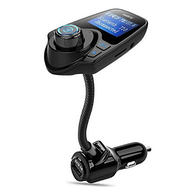 Bluetooth FM Transmitter Wireless In-Car Radio Transmitter Adapter /w USB Car Charger AUX Input 1.44 Inch Display TF Card Slot