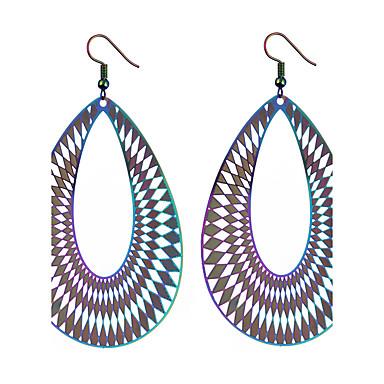 Damen Tropfen-Ohrringe Ohrringe baumeln Ethnisch Cool Modisch Schmuck mit Aussage überdimensional Stahl Schmuck Für Hochzeit Party