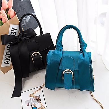 Damen Taschen Polyester / PU Umhängetasche Schleife(n) / Knöpfe für Normal Rosa / Marineblau / Knackmandel