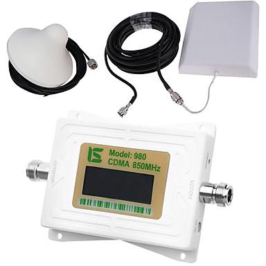 Mini intelligente lcd-anzeige cdma980 850 mhz handy signal booster repeater mit outdoor panel antenne / indoor decke antenne weiß