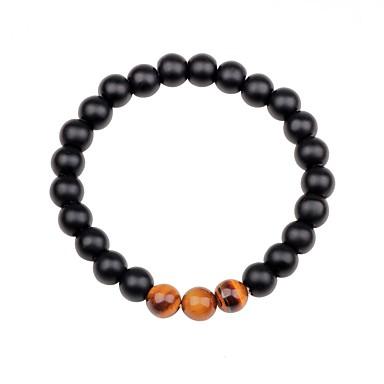 voordelige Herensieraden-Dames Unisex Obsidiaan Kralenarmband chakra Kleurrijk Agaat Armband sieraden Zwart / Bruin / Groen Voor Lahja Uitgaan