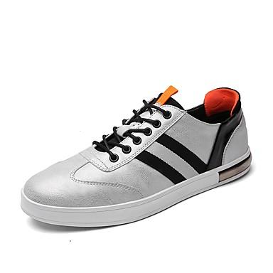 Męskie Buty Syntetyczny Microfiber PU / Derma / PU Na każdy sezon Comfort Tenisówki White / Black / Gray