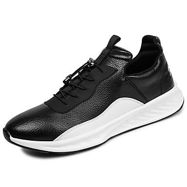 Men's Light Soles PU(Polyurethane) / Spring / Fall Sneakers White / PU(Polyurethane) Black c23d00