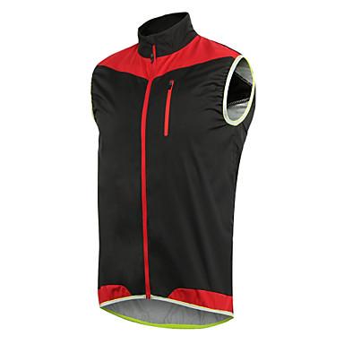 Arsuxeo Men's Cycling Jacket Bike Vest / Gilet Windproof Polyester, Elastane Yellow / Blue / Black / Red Bike Wear