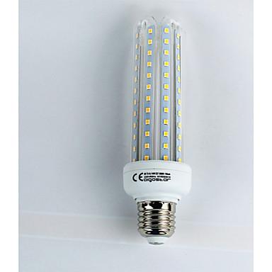 billige Elpærer-1pc 19 W LED-kornpærer 1600 lm E27 T30 96 LED perler SMD 3528 Kjølig hvit 110-240 V / CE