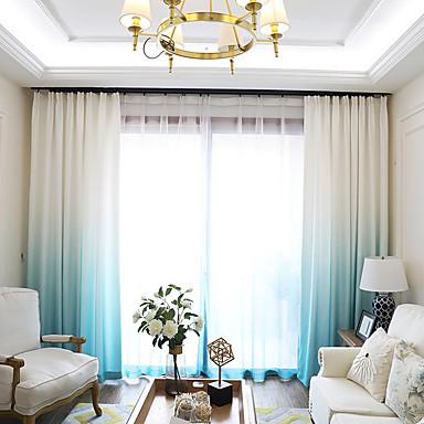"""cheap Window Treatments-Blackout Blackout Curtains Drapes 2*(72W×96""""L) Blue / Living Room"""