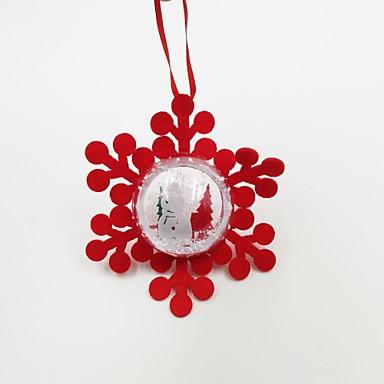 Dekoracje bożonarodzeniowe Artykuły na przyjęcie bożonarodzeniowe Ozdoby choinkowe Zabawki Owalne Płatek śniegu Święto Święto Sztuk