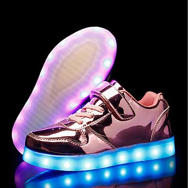 Mädchen Schuhe PU Herbst Winter Leuchtende LED-Schuhe Sneakers LED Für Normal Party & Festivität Gold Silber Rosa