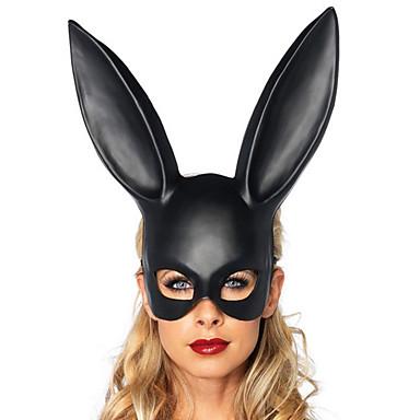 voordelige Maskers voor de feestdagen-Halloweenmaskers Carnavalsmaskers Dierenmasker Rabbit Nieuwigheid Romantiek Konijn Dieren Cowgirl Volwassenen Jongens Meisjes Speeltjes Geschenk 1 pcs
