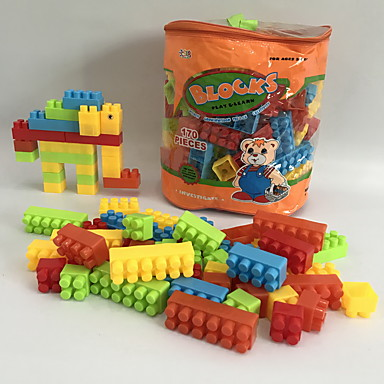 hesapli Oyuncaklar ve Oyunlar-Legolar 170 pcs Fil / Karikatür / Aile Hayvanlar / El Çantaları / Karikatür Oyuncak Hayvanlar / Sırt Çantası Genç Erkek Hediye