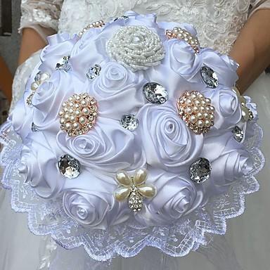 Kwiaty ślubne Bukiety / Wyjątkowa dekoracja ślubna Specjalne okazje Jedwab 9,84