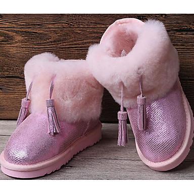 Mädchen Schuhe Pelz Winter Herbst Komfort Schneestiefel Stiefel für Normal Schwarz Purpur Fuchsia Rosa
