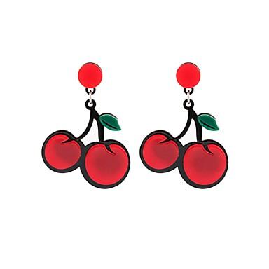halpa Muotikorvakorut-Naisten Pisarakorvakorut korvakorut Kirsikka Fruit naiset Korut Punainen Käyttötarkoitus Deitti Katu