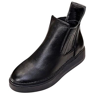 Damskie Obuwie Guma Zima Obuwie w stylu wojskowym Buciki Okrągły Toe Black / Brown