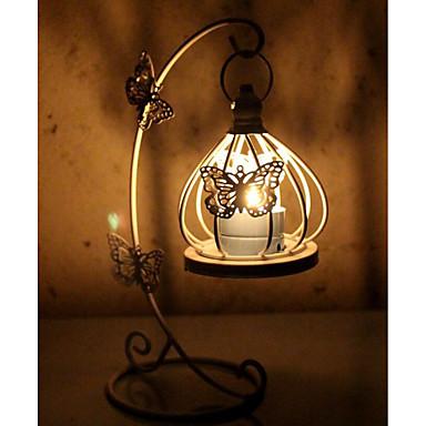 klassische Schmetterling Muster Metall Kandelaber Kerzenhalter