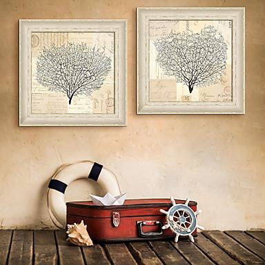 Oprawione płótno Zestaw w oprawie Krajobraz Kwiatowy/Roślinny Wall Art, PVC (polichlorek winylu) Materiał z ramą Dekoracja domowa rama Art