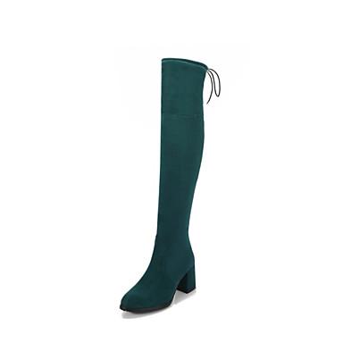 Damen Schuhe Vlies Winter Modische Stiefel Neuheit Stiefel Runde Zehe Oberschenkel-hohe Stiefel Für Normal Kleid Schwarz Hellgrau