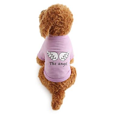 Köpek Tişört Köpek Giyimi Harf & Sayı Pamuk Kostüm Evcil hayvanlar için