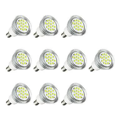 10pcs 3W 260-300lm E14 Żarówki punktowe LED E14 / E12 16 Koraliki LED SMD 5630 LED Light Ciepła biel / Biały 220-240V