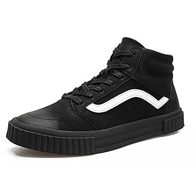 Herren Schuhe PU Winter Komfort Sneakers Schnürsenkel Für Normal Schwarz