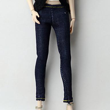 Spodnie Szorty i spodnie i legginsy Dla Lalka Barbie Ciemna marynarka wojenna Tkanina Oxford Spodnie Dla Dziewczyny Lalka Zabawka