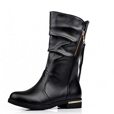 Damens's Schuhes Lederette PU Bootie Winter Comfort Novelty Bootie PU Stiefel ... 287299