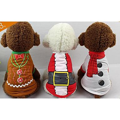 e918b192dc87 Χαμηλού Κόστους Χριστουγεννιάτικα κοστούμια για κατοικ-Γάτα Σκύλος Φανέλα  Veste Ρούχα για σκύλους Γράμμα  amp