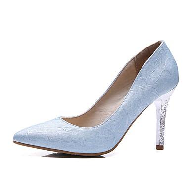 Damskie Obuwie Derma Wiosna Lato Comfort Szpilki Pointed Toe na Ślub Impreza / bankiet Light Purple Sliver Light Blue