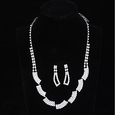 Damskie Biżuteria Ustaw Kolczyki wiszące, Naszyjnik - Inne White