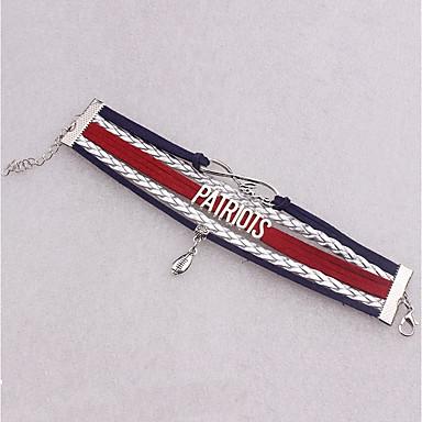 baratos Pulseiras de couro-Homens Mulheres Enrole Pulseiras Pulseiras de couro Formato de Folha Infinidade Coreano Pele Pulseira de jóias Prata Para Diário