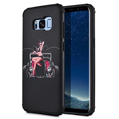 Kılıf Na Samsung Galaxy S8 Plus S8 Wzór Czarne etui Seksowna dziewczyna Widok miasta Twarde PC na S8 Plus S8 S7 edge S7