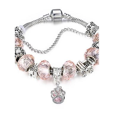 Damen Kristall / Kubikzirkonia Armreife / Armband - versilbert Süß, Elegant Armbänder Rosa Für Hochzeit / Party