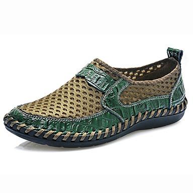Męskie Buty Tiul Wiosna Lato Comfort Mokasyny i pantofle na Casual Black Green Niebieski