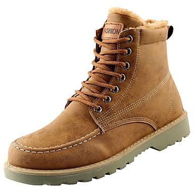 Męskie Buty Syntetyczny Microfiber PU / PU / Derma Jesień / Zima Modne obuwie / Comfort Buciki Black / Gray / Brown