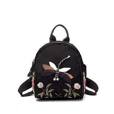 Damen Taschen Polyester Rucksack Reißverschluss für Normal Ganzjährig Schwarz