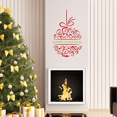 Christmas Romance Holiday Wall Stickers Plane Wall Stickers Decorative Wall Stickers,Paper Material Home Decoration Wall Decal