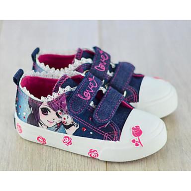 Mädchen Schuhe Leinwand Frühling Herbst Komfort Sneakers für Normal Dunkelblau Hellblau