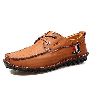 Męskie Komfortowe buty Skóra / Derma Jesień / Zima Adidasy Spacery Czarny / Żółty / Ciemnobrązowy