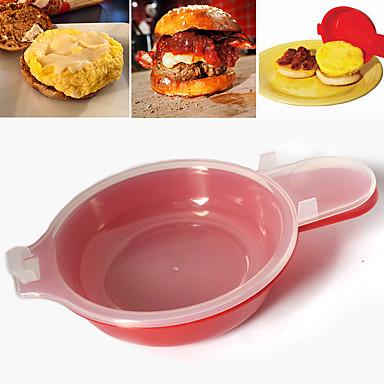 2 sztuk / zestaw łatwy eggwich kuchenka mikrofalowa kuchenka do gotowania jaj szybka hamburg omlet maker kuchnia gotowanie narzędzie