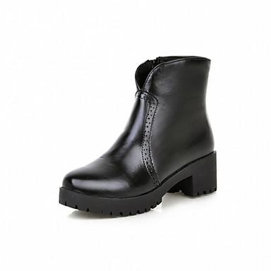 Damen Schuhe Kunstleder PU Winter Komfort Neuheit Stiefeletten Stiefel Runde Zehe Booties / Stiefeletten für Kleid Party & Festivität