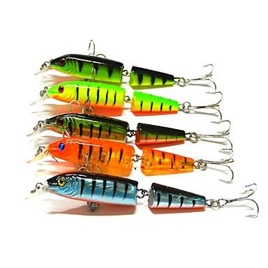 5 szt Błystki Plastikowy Sea Fishing Fly Fishing Casting Bait Ice Fishing Spinning Osadzenia Fishing Wędkarstwo słodkowodne Inny Trolling