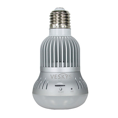 veskys® 960p 360 stopni soczewki oka ryby 1.3mp bezprzewodowy wi-fi pełny widok żarówki ip kamera inteligentna żarówka światło dla bezpieczeństwa w