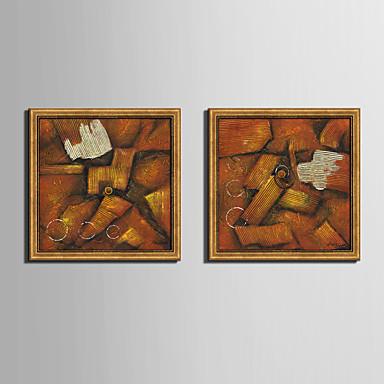 Oprawione płótno Zestaw w oprawie Streszczenie Kształty Kaprys Wall Art, PVC (polichlorek winylu) Materiał z ramą Dekoracja domowa rama