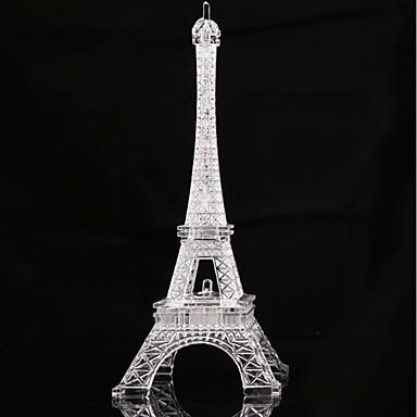 halpa Koristevalot-1pc eiffel-torni johti yövalon värinvaihtopainikkeilla akkuvirran koristeluun