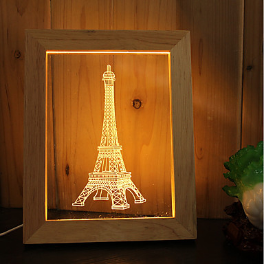 1set Abblendbar Dekorativ Dekorations Beleuchtung LED-Nachtlicht USB-Lichter-3W