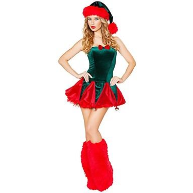 Santa Claus Mrsclaus Costume Womens Christmas Festival Holiday