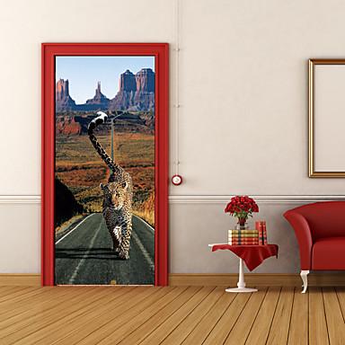 Zwierzęta 3D Naklejki Naklejki ścienne 3D Dekoracyjne naklejki ścienne, Winyl Dekoracja domowa Naklejka Ściana