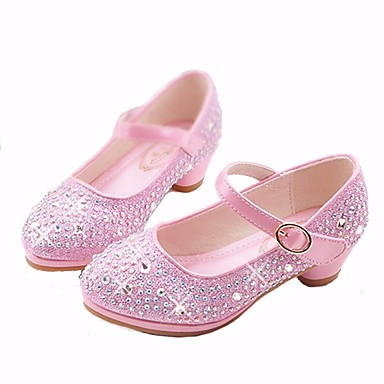 cheap Featured Deals-Girls' Microfiber Heels Little Kids(4-7ys) / Big Kids(7years +) Flower Girl Shoes / Tiny Heels for Teens Gold / Silver / Pink Spring / Fall / TPR (Thermoplastic Rubber) / EU36