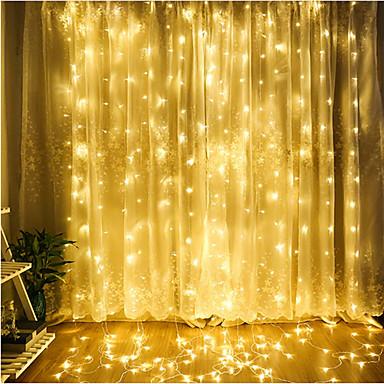 preiswerte Dekorative Beleuchtung-4m Leuchtgirlanden 300 LEDs LED Diode Warmes Weiß / Kühles Weiß / Blau Dekorativ / Verbindbar / Weihnachten 220-240 V 1pc / IP65