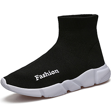 Dla chłopców Obuwie Dzianina / Tiul Jesień Comfort / Lekkie podeszwy Mokasyny i pantofle na Black / Czerwony / Niebieski
